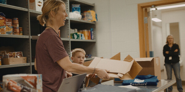 Food Pantry at Clarence Farrington Elementary
